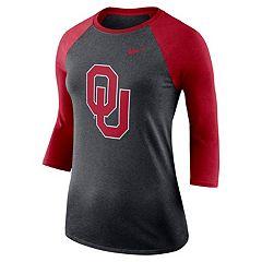 Women's Nike Oklahoma Sooners Baseball Tee
