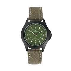 Peugeot Men's Casual Aviator Canvas Watch - 2055GR