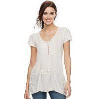 Women's World Unity Flutter Lace Top