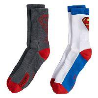Boys 4-20 Superman 2-Pack Crew Socks