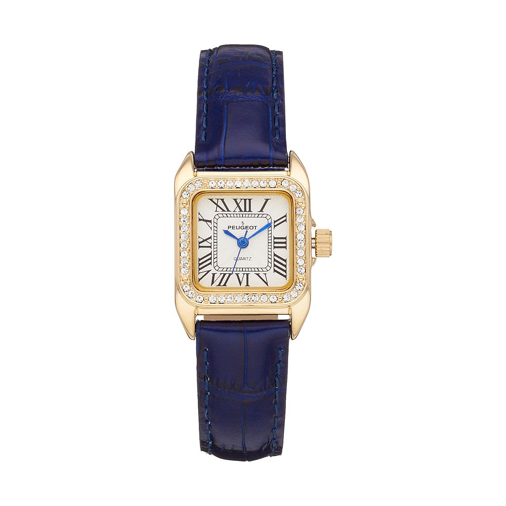 Peugeot Women's Crystal Leather Watch - 3052BL