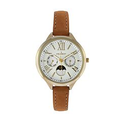 Peugeot Women's Leather Moon Phase Watch - 3053G