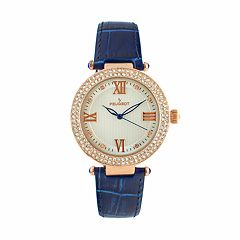 Peugeot Women's Crystal Leather Watch - 3046BL