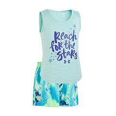 Toddler Girl Under Armour 'Reach For The Stars' Graphic Tank & Shorts Set