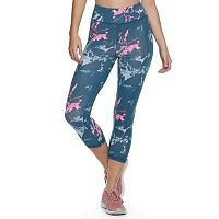 Juniors' SO® High-Rise Printed Yoga Capris