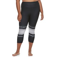 Juniors' Plus Size SO® Tie-Dye Yoga Capri Leggings