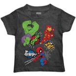 Toddler Boy Marvel The Hulk, Spider-Man & Iron Man Graphic Tee