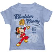 "Disney's Mickey Mouse Toddler Boy  ""Roadster Ready"" Graphic Tee"