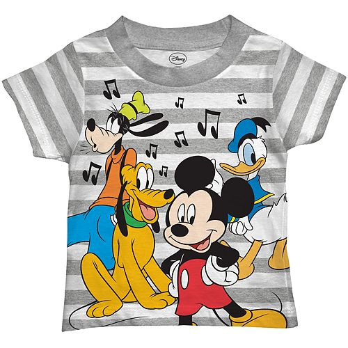 Disney's Mickey Mouse & Friends Toddler Boy  Music Notes Graphic Tee