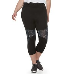 Juniors' Plus Size SO® Mesh Inset Active Capris