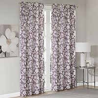 Madison Park Essentials Roxanne Floral Foamback 2-pack Window Curtains