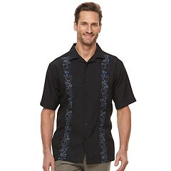 Men's Haggar Classic-Fit Textured Microfiber Button-Down Shirt