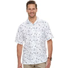 Men's Haggar Classic-Fit Textured Microfiber Easy-Care Button-Down Shirt