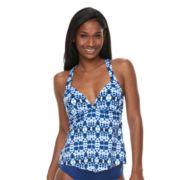 Women's Apt. 9® Tie-Dye Macrame Racerback Tankini Top