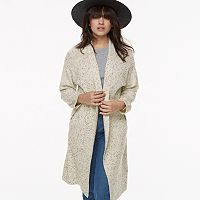 k/lab Tweed Open-Front Cardigan
