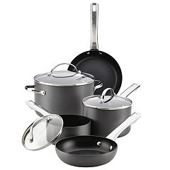 Farberware 10-pc. Hard-Anodized Nonstick Cookware Set