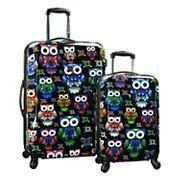 Traveler's Choice Colorful Owl 2 pc Hardside Expandable Luggage Set