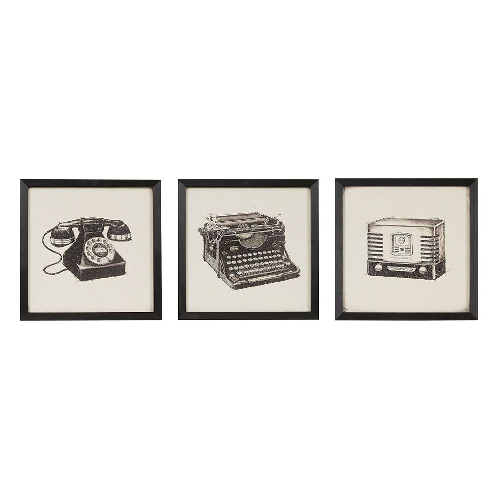 Intelligent Design Vintage Models Framed Wall Art 3-piece Set