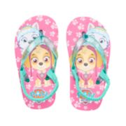 Toddler Girl Paw Patrol Everest & Skye Thong Flip Flop Sandals