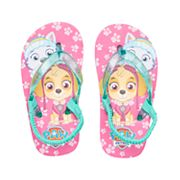 Toddler Girl Paw Patrol Everest & Skye Thong Flip Flop Sandals
