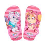 Toddler Girl Paw Patrol Everest & Skye Pink Thong Flip Flop Sandals