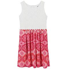 Girls 7-16 & Plus Size Speechless Sleeveless Lace Bodice Dress