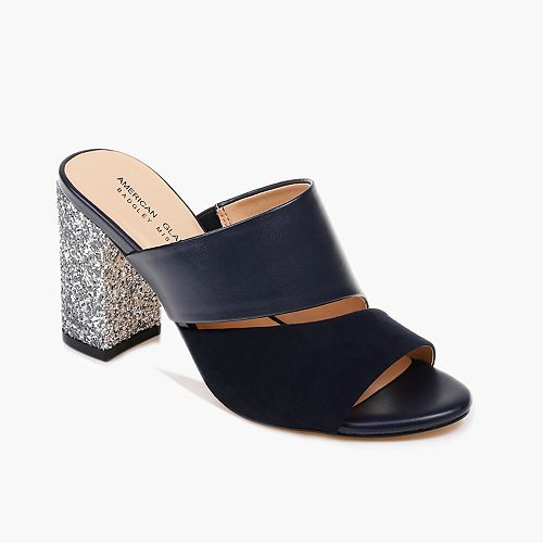 American Glamour by Badgley Mischka Brooke Women's High Heel Mules