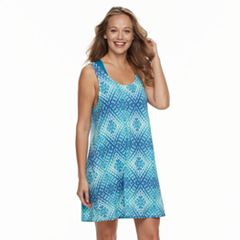 Women's Portocruz Tie-Dyed Lattice Back Cover-Up Dress