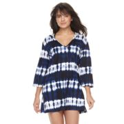 Women's Portocruz Tie-Dye Hooded Cover-Up Tunic
