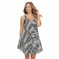 Women's Portocruz Animal Print Racer Back Flowy Cover-Up Dress