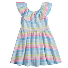 Toddler Girl Jumping Beans® Print Ruffled Skater Dress
