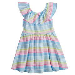 Toddler Girl Jumping Beans® Print Ruffled Skater Dress