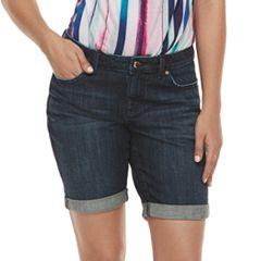 Women's Jennifer Lopez Cuffed Bermuda Jean Shorts