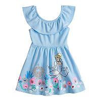 Disney's Cinderella Toddler Girl Glittery Graphic Skater Dress