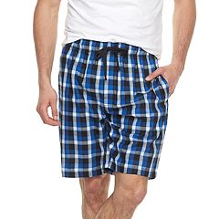 Big & Tall Chaps Plaid Soft-Touch Woven Sleep Shorts