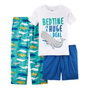 Toddler Boy Carter's 3 pc 'Bedtime Is A Huge Deal' Whale Pajama Set
