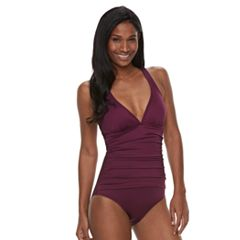 Women's Apt. 9® Tummy Slimmer Macrame One-Piece Swimsuit