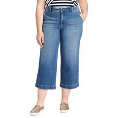Plus Size Chaps Wide-Leg Capri Jeans