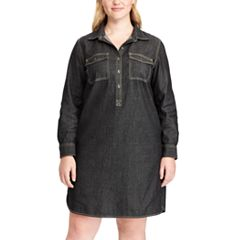 Plus Size Chaps Jean Shirtdress