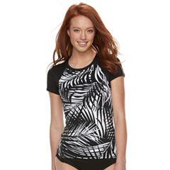 Women's Apt. 9® Palm Leaf Rash Guard