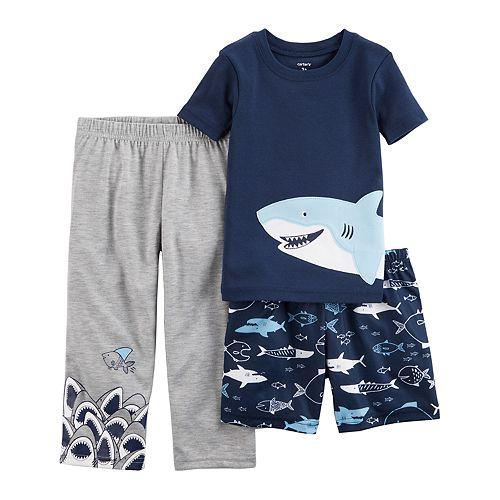 2029f161ef5b Toddler Boy Carter s 3-pc. Sharks Pajama Set