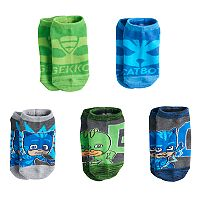 Boys 4-6 PJ Masks 5-Pack No-Show Socks