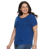 Plus Size SONOMA Goods for Life™ Essential Scoopneck Tee