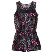 Girls 7-16 Joey B Crochet Romper