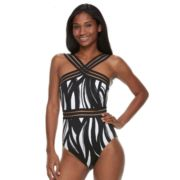 Women's Apt. 9® Tummy Slimmer Sheer One-Piece Swimsuit