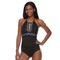 Women's Apt. 9® Tummy Slimmer Embroidered One-Piece Swimsuit