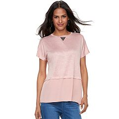 Women's Juicy Couture Embellished Mixed-Media Top