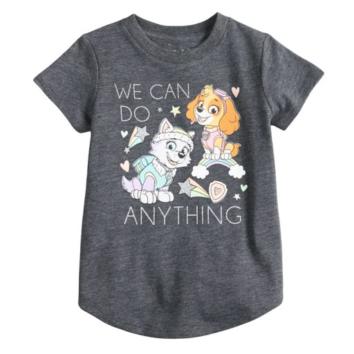 """Toddler Girl Jumping Beans® Paw Patrol Skye & Everest """"We Can Do Anything"""" Glittery Graphic Tee"""