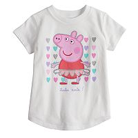 Toddler Girl Jumping Beans® Peppa Pig Tutu Ballerina Glitter Graphic Tee