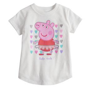 Toddler Girl Jumping Beans® Peppa Pig Tutu Ballerina Glitter Graphic Tee